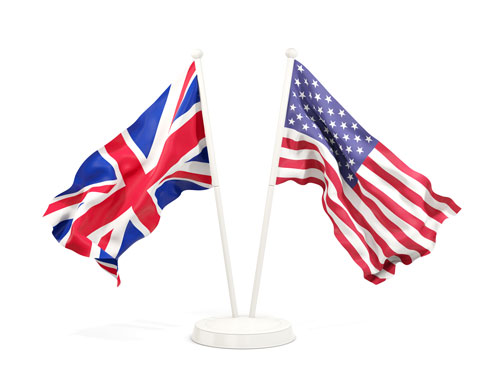 What US Citizens need to know about UK Immigration - America USA UK Flags